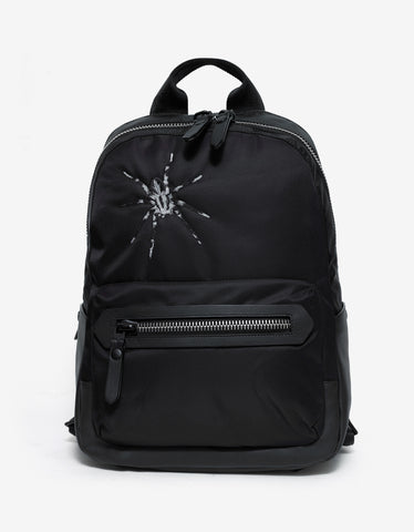 Lanvin Black Spider Graphic Canvas Backpack