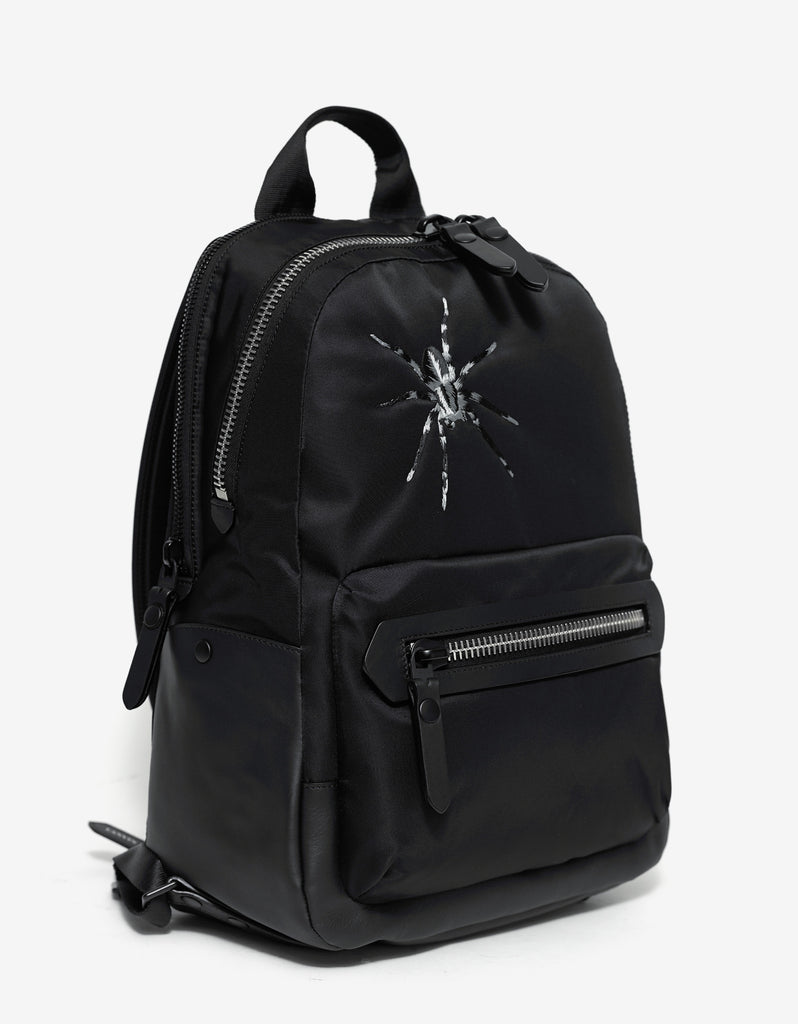 Black Spider Graphic Canvas Backpack