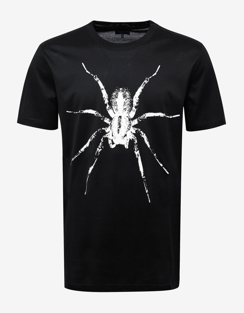 Black Spider Graphic Print T-Shirt