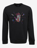 Black Sweatshirt with Hand Embroidery