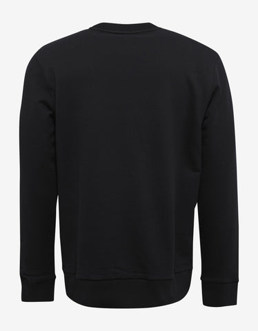 Lanvin Black Sweatshirt with Hand Embroidery