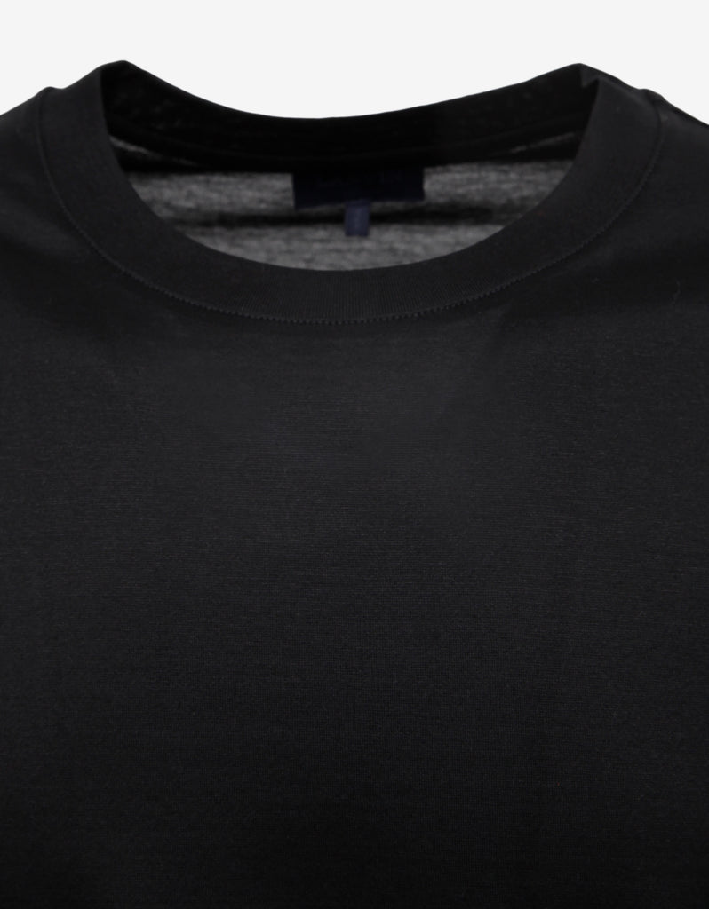 Black T-Shirt with Contrast Sleeves