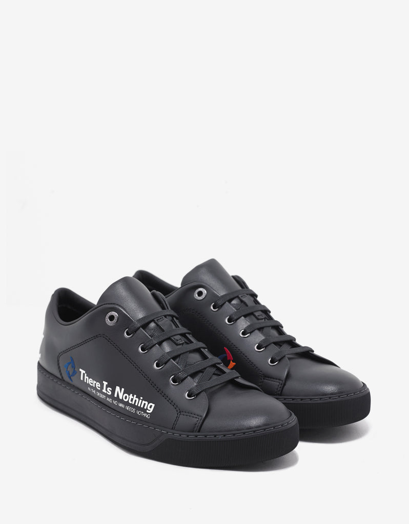 Black 'There is Nothing' Leather Trainers
