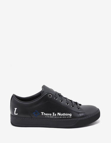 Lanvin Black 'There is Nothing' Leather Trainers