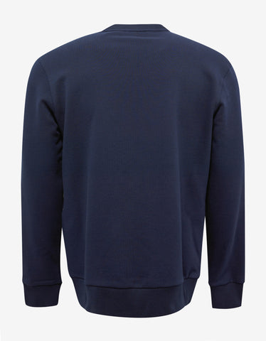 Lanvin Blue Graphic Embroidery Sweatshirt