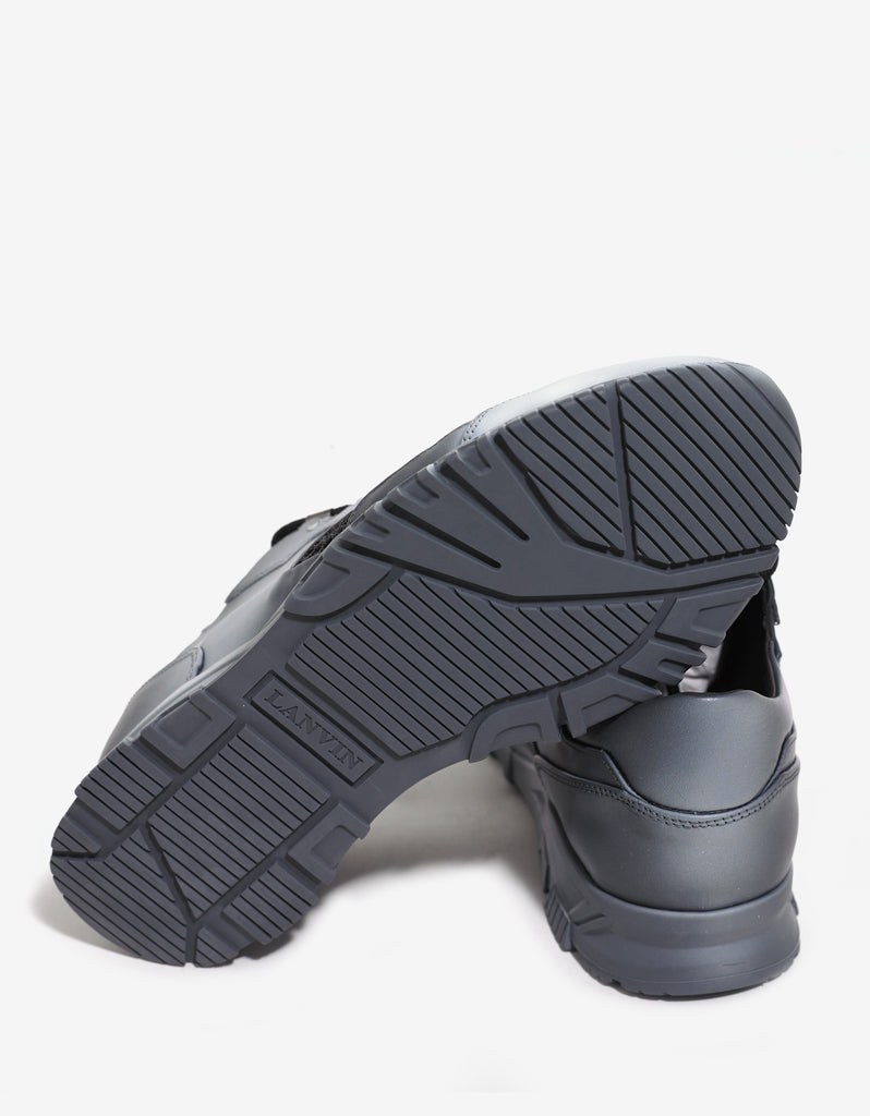 Grey Running Trainers with Fishnet Panel