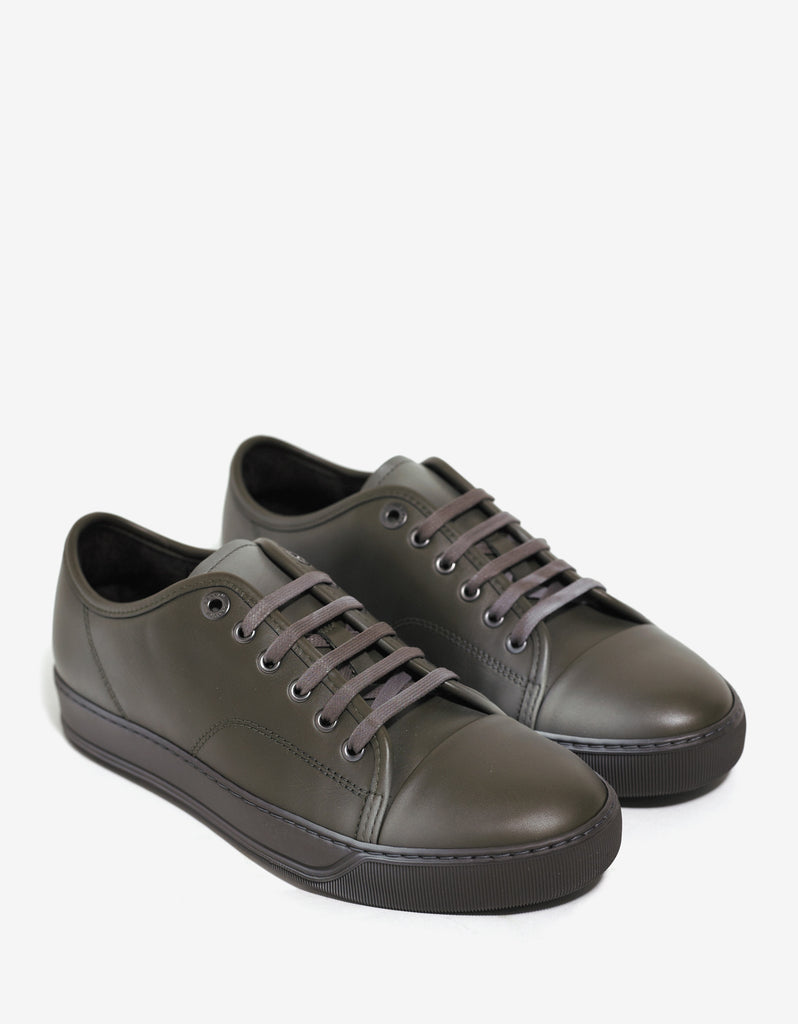 Khaki Low Trainers with Spray