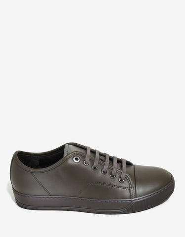Lanvin Khaki Low Trainers with Spray