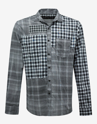 Black & White Patchwork Check Shirt