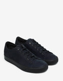 Navy Blue Nubuck Leather Trainers