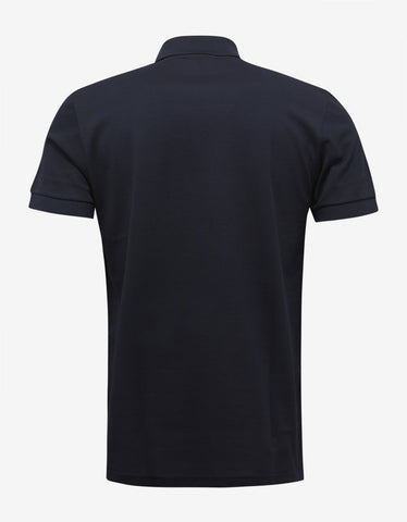 Lanvin Navy Blue Polo T-Shirt with Contrast Front