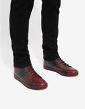 Red Mid Top Trainers with Spray