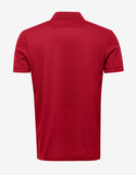 Red Polo T-Shirt with Embroidered Patches