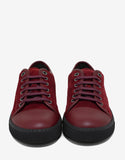 Crimson Red Suede Trainers with Leather Toe Cap