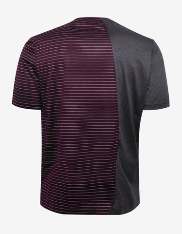 Lanvin Splash Print & Burgundy Stripe T-Shirt