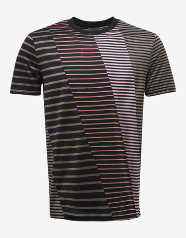 Lanvin Striped Patchwork T-Shirt