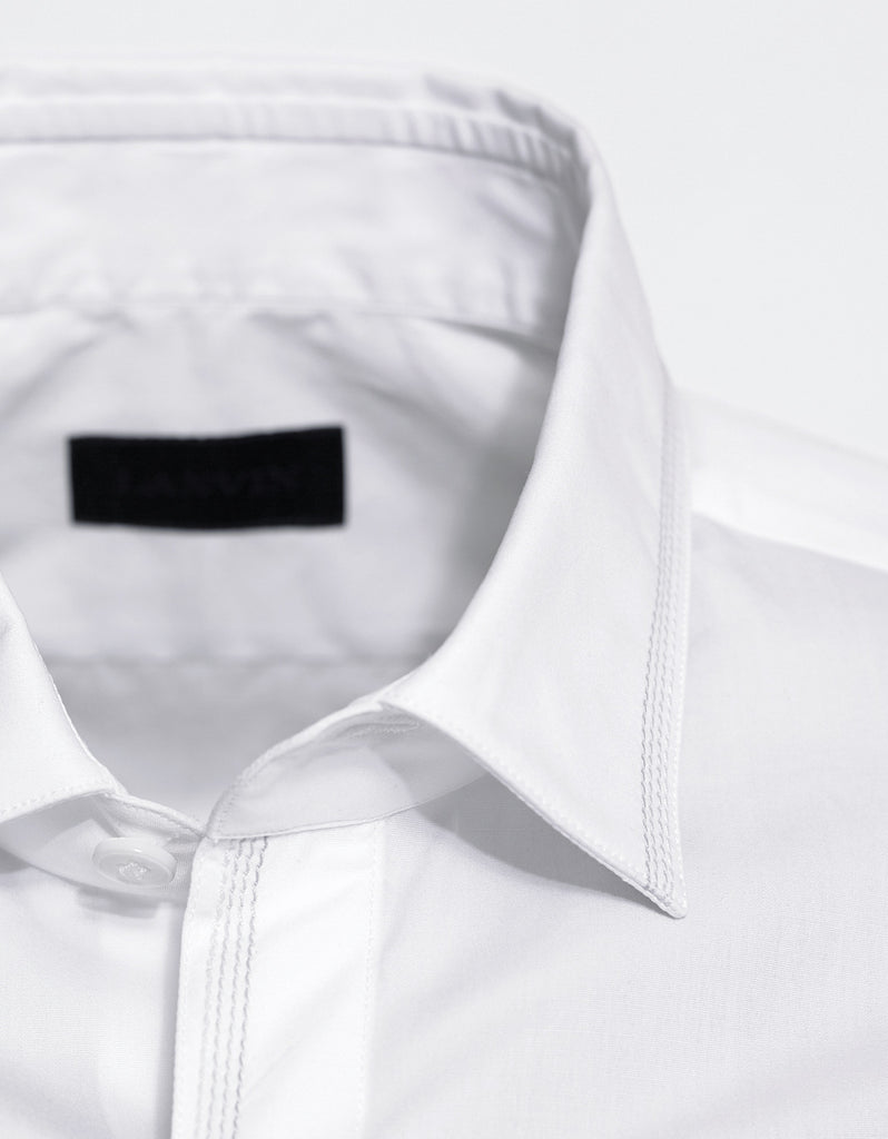 White Shirt with Embroidery Detail