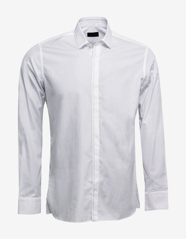 Lanvin White Shirt with Embroidery Detail