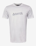 White Strikethrough Logo Print T-Shirt