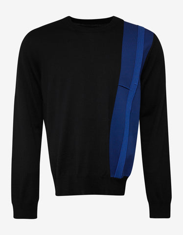 Maison Margiela Black Contrast Trim Wool Sweater