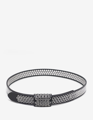Maison Margiela Black Metal Eyelet Leather Belt