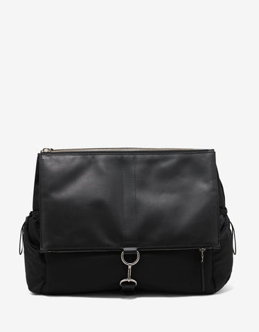 Maison Margiela Black Fold Over Shoulder Bag