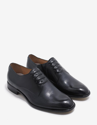 Maison Margiela Black Leather Oxford Shoes