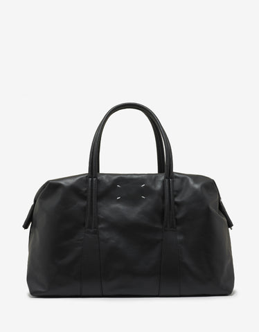 Maison Margiela Black Leather Weekend Bag
