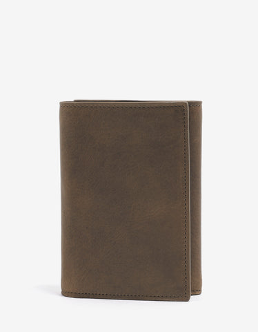 Maison Margiela Brown Leather Tri-Fold Wallet