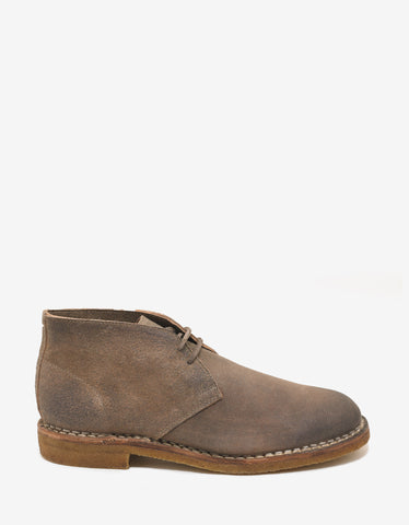 Maison Margiela Brown Distressed Leather Desert Boots