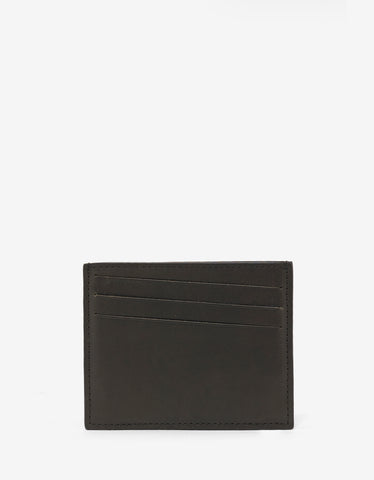 Maison Margiela Dark Green Leather Card Holder