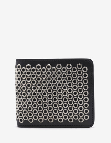 Maison Margiela Black Metal Eyelet Billfold Wallet