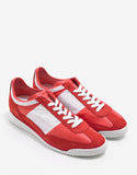 Red & White Leather & Suede Running Trainers