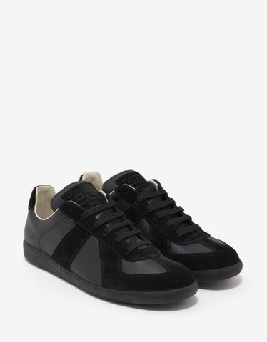Maison Margiela Replica Black Low Trainers