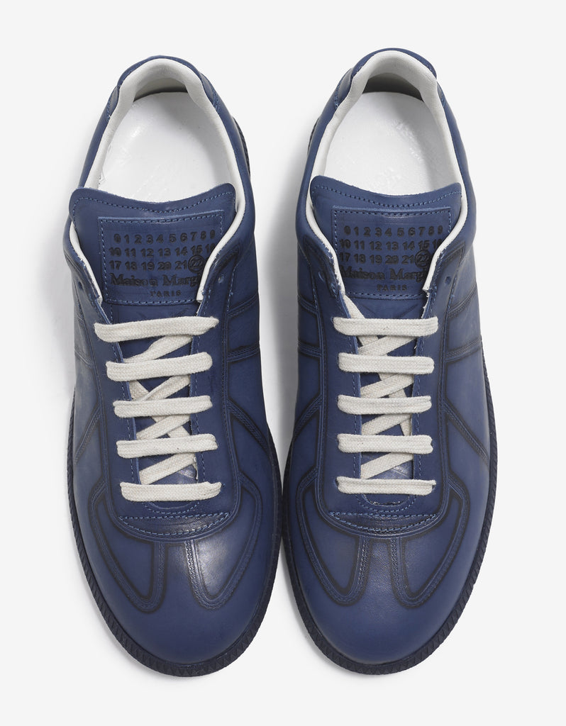 Replica Blue Leather Trainers