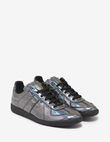 Maison Margiela Replica Iridescent Leather Low Trainers
