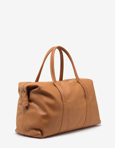 Maison Margiela Tan Leather Weekend Bag