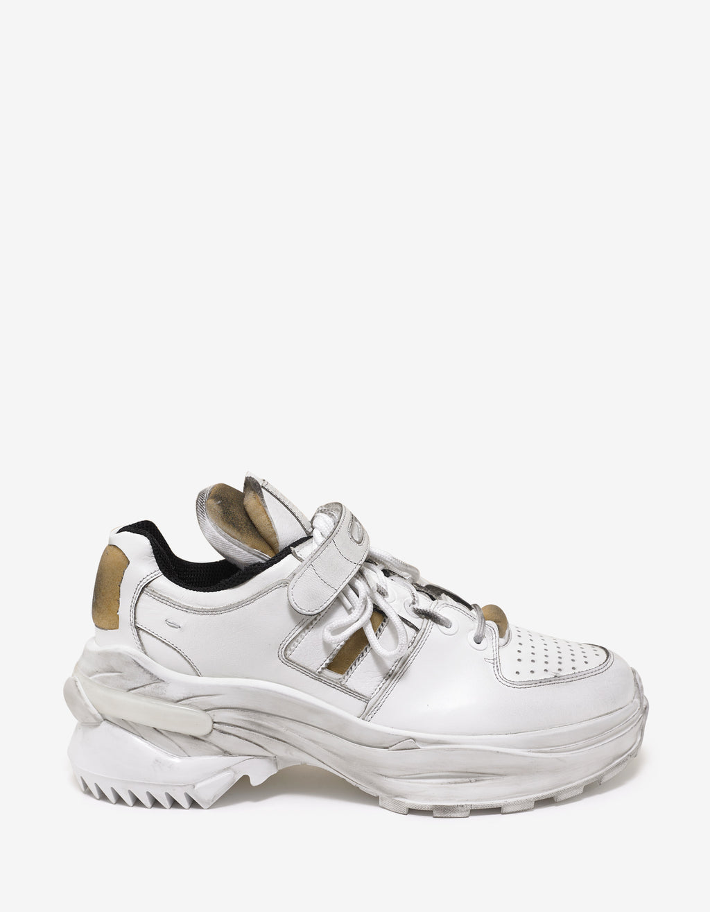 White Artisanal Low Top Trainers