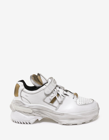 Maison Margiela White Artisanal Low Top Trainers