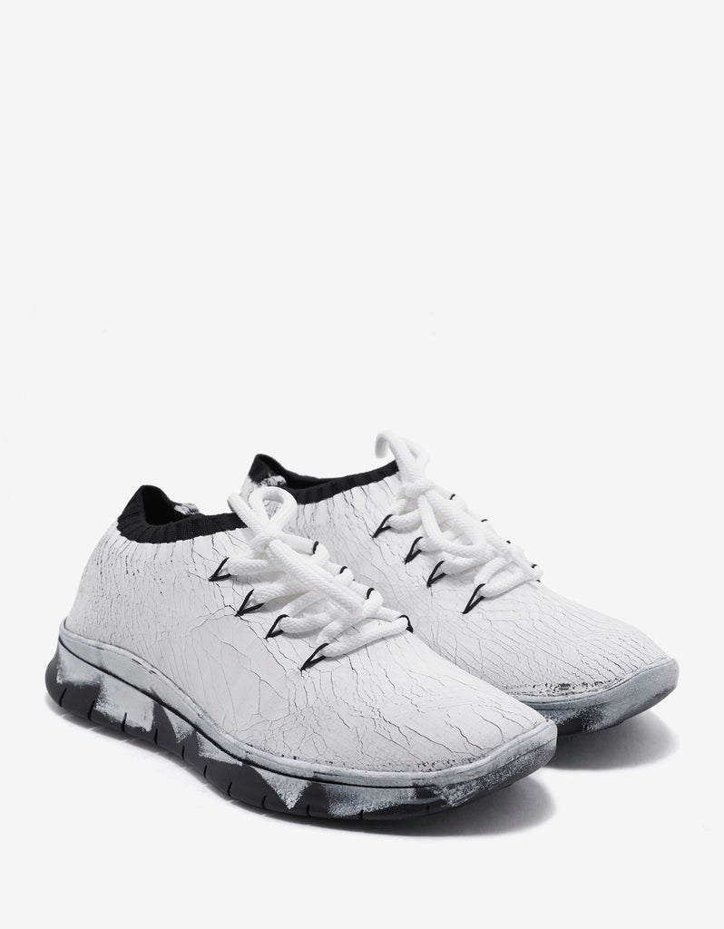 White Crack Up Effect Trainers
