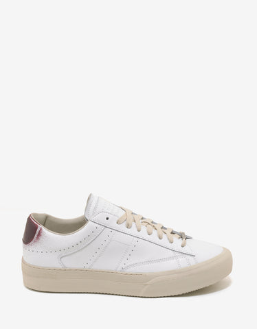 Maison Margiela White Low Top Trainers with Spray Paint Detail