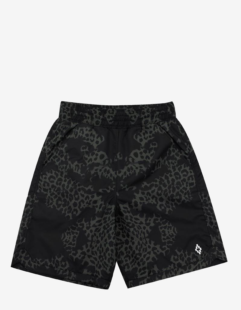 Alonso Green Leopard Print Boardshorts