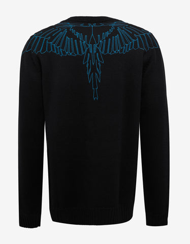 Marcelo Burlon Aserel Sweater with Graphic Embroidery