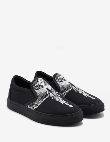 Marcelo Burlon Azelia Wings Embroidery Slip-On Trainers