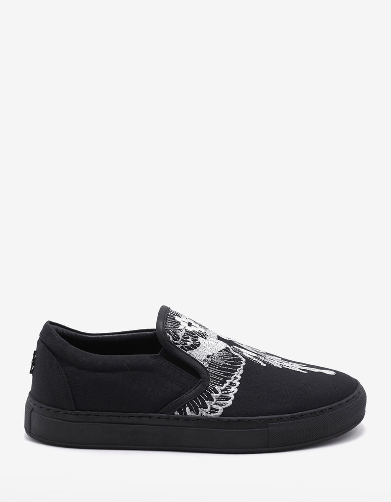 Azelia Wings Embroidery Slip-On Trainers