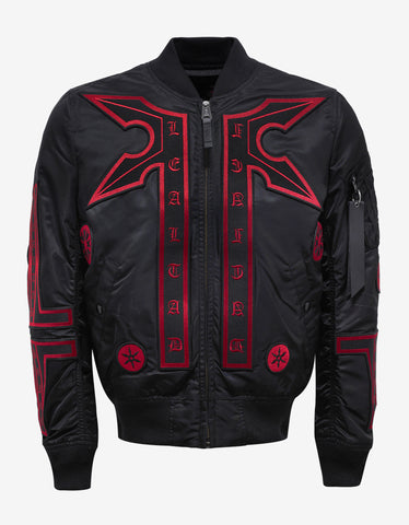 Marcelo Burlon Manuel Alpha MA-1 Flight Jacket with Badges