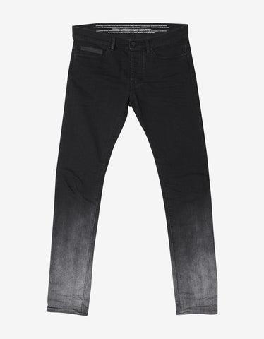 Marcelo Burlon Black Slim Fit Degrade Jeans