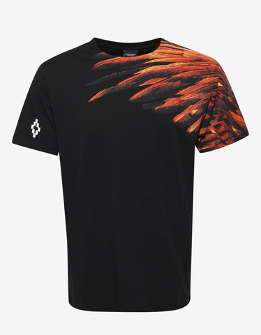 Marcelo Burlon Lonquimay Black Graphic Print T-Shirt