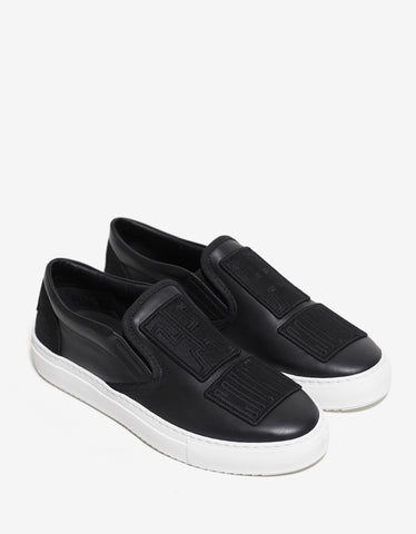 Marcelo Burlon Patches Black Slip-On Trainers