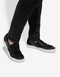 Patches Black Slip-On Trainers